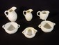 3 Belleek cream and sugars, mostly ivy pattern, tallest creamer 4.5