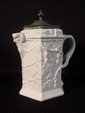 Belleek Pitcher with pewter mounted lid, first mark 7