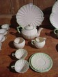 10 pcs. Belleek assembled Luncheon Service for two, 10