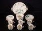 20 pc. Belleek Floral decorated partial dessert service for 6, 10