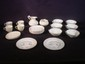 24 pcs. Belleek table wares: six Chinese tea cup and saucer, four shell motif cup and saucer, BCS convention dishes, etc.; various marks