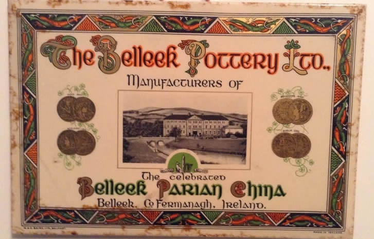Belleek Pottery Sign