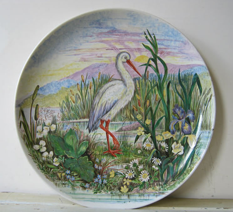 wall plaque..heron 1st black