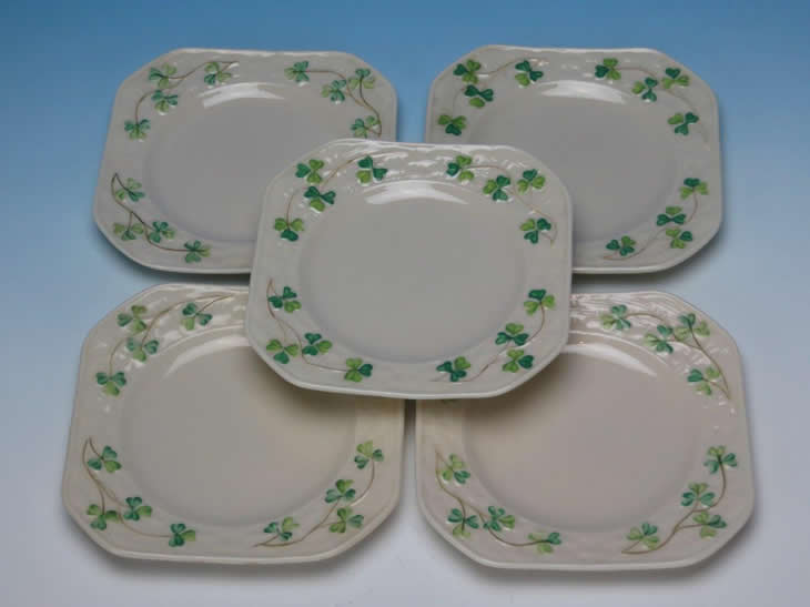 Shamrock Square Side Plates 3rd Black Period