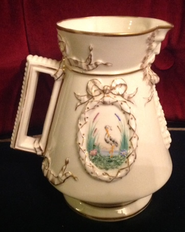 Florence Jug First Period Rare Stork Decoration