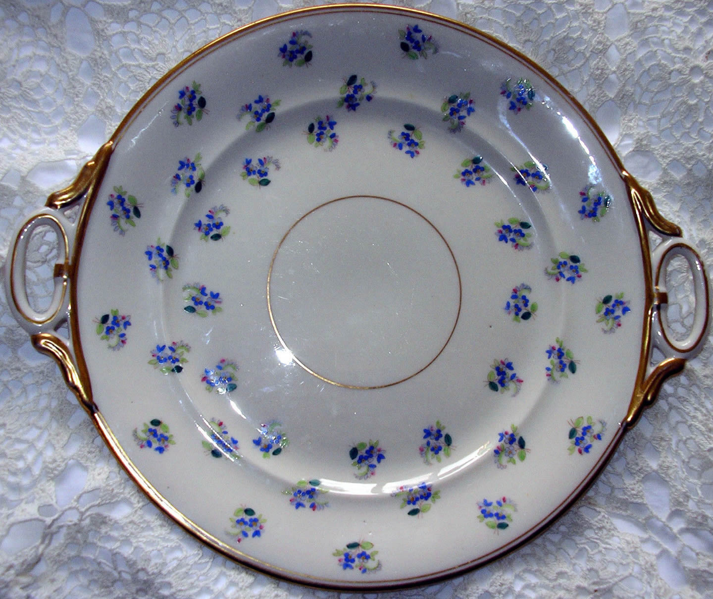 Ring Handle Bread Plate
