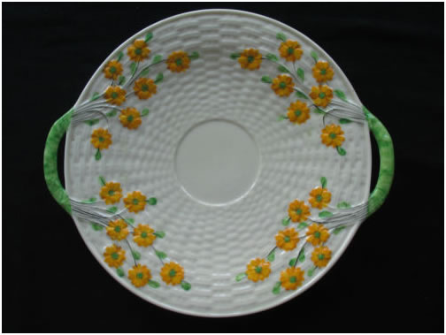 Marigold Decorated Shamrock Bread Plate