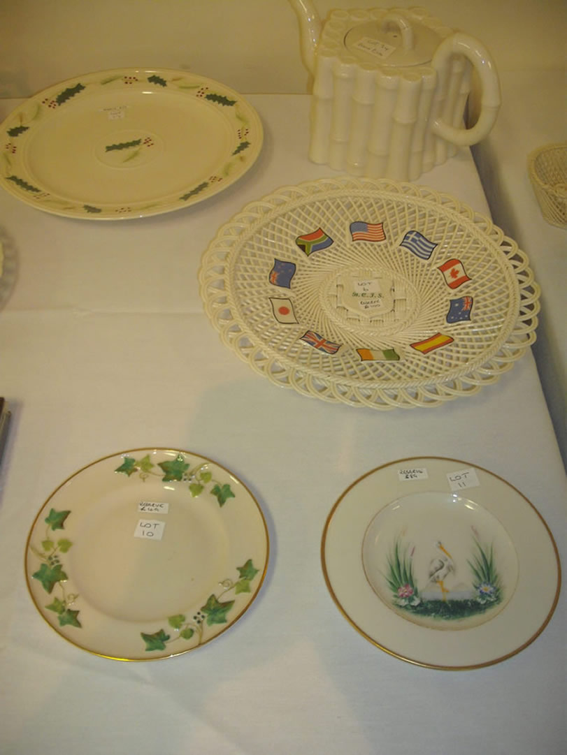 Ivy and Stork Hand Painted Plates