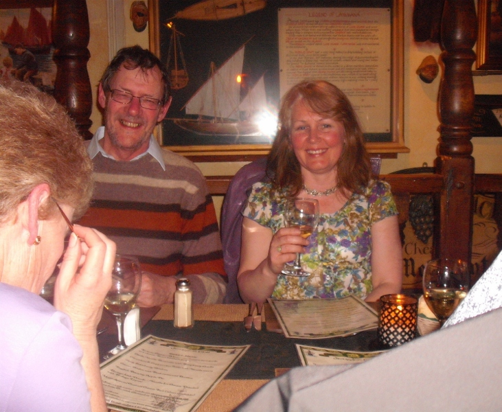 Francis and Bev at Smugglers Cott