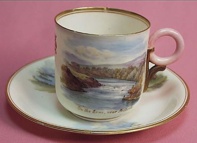 Ring Handle Cup and Saucer 'On the Erne'